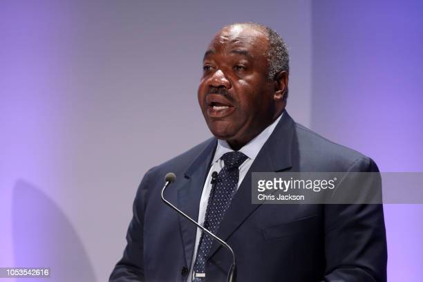President of Gabon Ali Bongo Ondimba speaks during the 2018 Illegal Wildlife Trade Conference at on October 11 2018 in London England