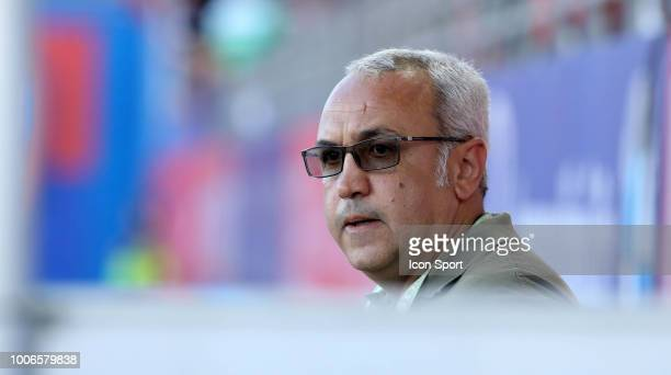 President of Gazelec Olivier Miniconi during the Ligue 2 match between Gazelec Ajaccio and Paris FC at Stade Ange Casanova on July 27 2018 in Ajaccio...