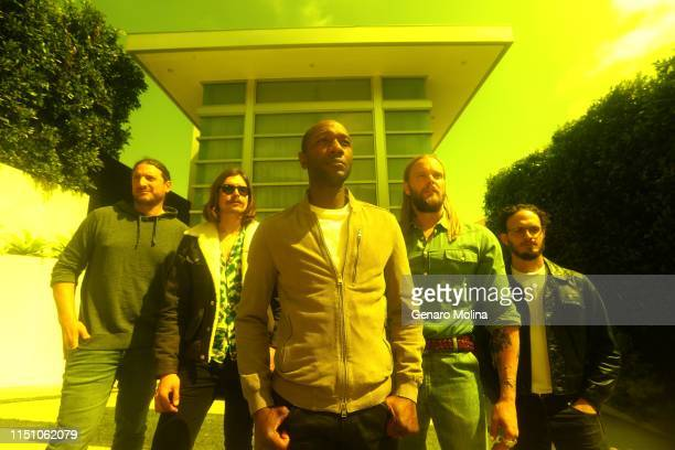 President of Geffen Records Neil Jacobson singer/songwriter and producer Joe Janiak singer Aloe Blacc and producing team Vincent Pontare and Salem Al...