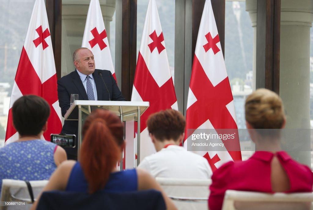 President of Georgia Giorgi Margvelashvili : News Photo