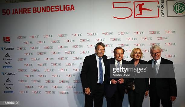 President of German Football Association Wolfgang Niersbach Gerhard Mayer Vorfelder Margit Mayer Vorfelder and Reinhard Rauball President of the...