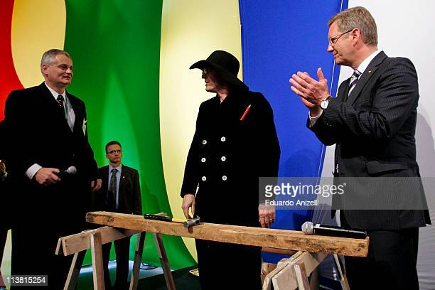 President of Germany Christian Wulff attends to a meeting with entrepreneurs at German Consulate as part of his visit to Brazil on May 6 2011 in Sao...