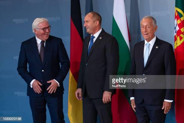 President of Germany FrankWalter Steinmeier President of Bulgaria Rumen Radev President of Portugal Marcelo Rebelo de Sousa during the 14th informal...