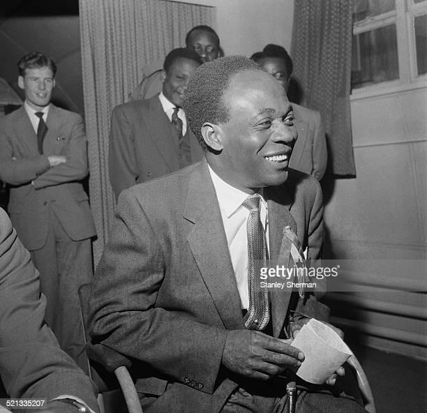 President of Ghana Kwame Nkrumah at London Airport London 3rd August 1958