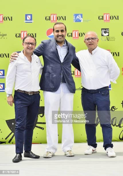 President of Giffoni Experience Piero Rinaldi Qatar Tourism Authority Chairman Issa bin Mohammed Al Mohannadi along with Director of Giffoni...