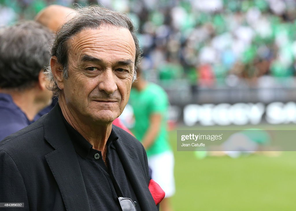 President of Girondins de Bordeaux Jean-Louis Triaud looks on before the French Ligue 1 match between AS Saint-Etienne (ASSE) and FC Girondins de Bordeaux at Stade Geoffroy-Guichard on August 15, 2015 in Saint-Etienne, France.