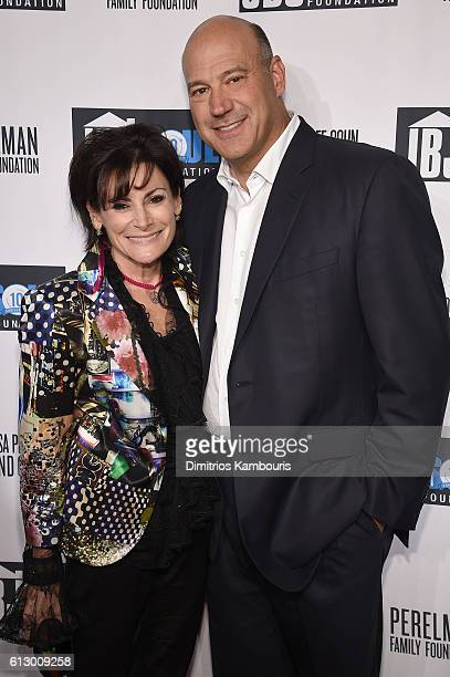 President of Goldman Sachs Gary Cohn and Lisa Pevaroff attend the Jon Bon Jovi Soul Foundation's 10 year anniversary at the Garage on October 6 2016...