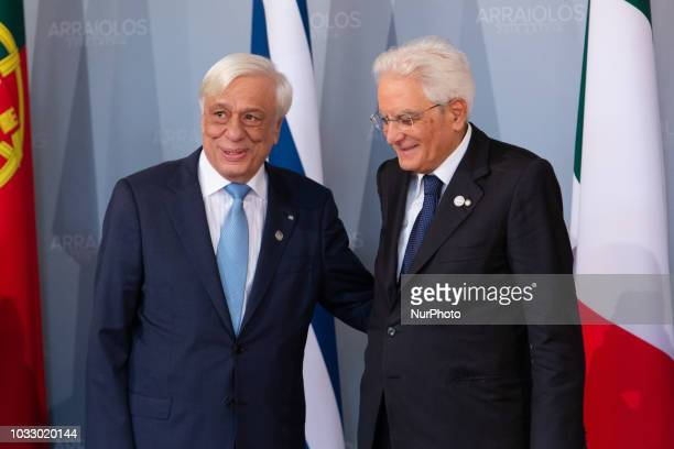 President of Greece Prokopis Pavlopoulos President of Italy Sergio Mattarella during the 14th informal meeting of the Arraiolos Group at Rundale...