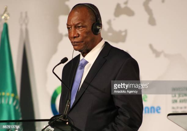 President of Guinea Alpha Conde President of the European Council Donald Tusk European Commission President JeanClaude Juncker and Chairperson of the...