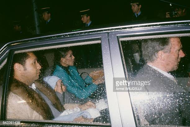President of Haiti JeanClaude Duvalier and his wife Michèle Bennett Pasquet leave Talloires to settle in the AlpesMaritimes in the southeast of France