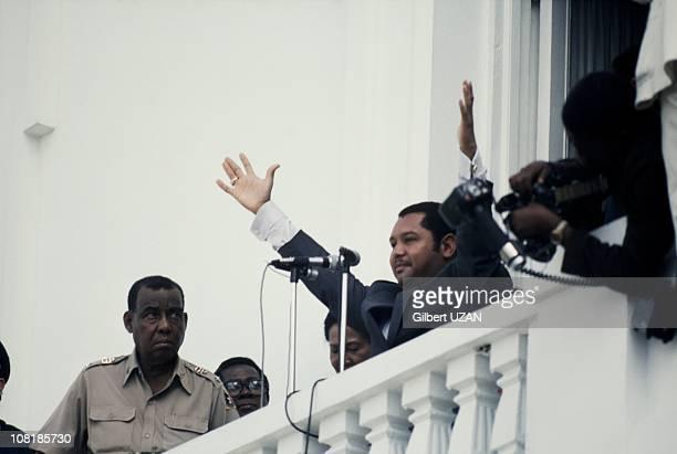 President of Haiti Jean-Claude Duvalier during the 1980's in Haiti.