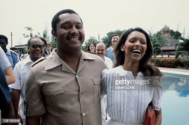President of Haiti Jean-Claude Duvalier with his wife Michele Bennet Duvalier during the 1980's in Haiti.
