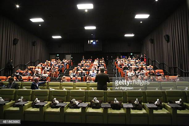 President of Hallmark Hall of Fame Brad Moore speaks at Hallmark Hall Of Fame's Away Back Exclusive Premiere Event at iPic Theaters on January 20...