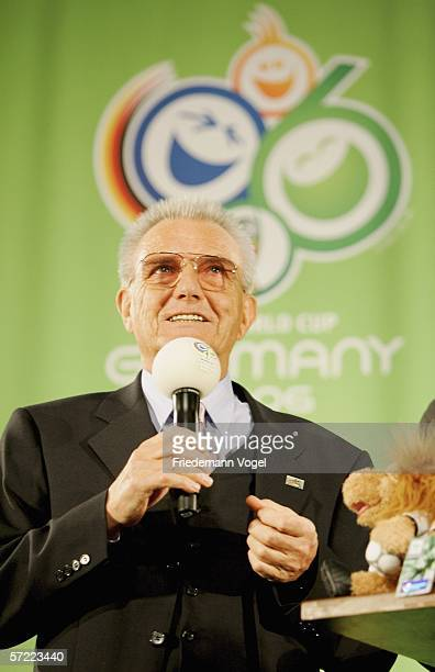 President of Hamburgs football federation Dr Friedel Guett during the Volunteer Kick Off at the Color Line Arena on March 31 2006 in Hamburg Germany...