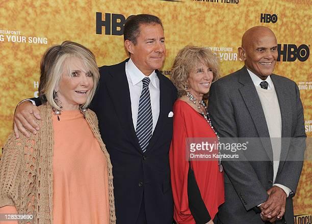 President of HBO Documentary and Family Programming Sheila Nevins, HBO co-president Richard Plepler, Pamela Belafonte and singer/actor Harry...