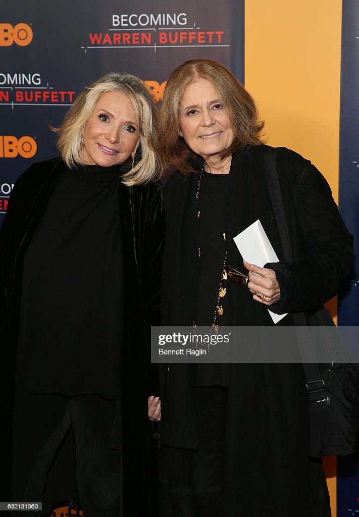 President of HBO Documentary Films Sheila Nevins and activist Gloria Steinem attend 'Becoming Warren Buffett' World premiere at The Museum of Modern Art on January 19, 2017 in New York City.