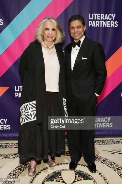 President of HBO Documentary Films Sheila Nevins and journalist Fareed Zakaria attend the 2017 Literacy Partners Evening of Readings and Gala Dinner...