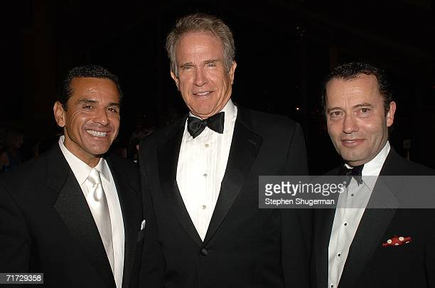 President of HBO Films Colin Callender , actor Warren Beatty and Mayor of Los Angeles Antonio Villaraigosa attends the HBO Post Emmy Party held at...