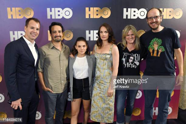 President of HBO Programming Casey Bloys LinManuel Miranda Dafne Keen Ruth Wilson Jane Tranter and Jack Thorne attend the HBO Summer TCA Panels on...
