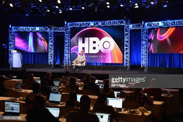 President of HBO programming Casey Bloys speaks onstage at HBO Summer TCA 2018 at The Beverly Hilton Hotel on July 25 2018 in Beverly Hills California