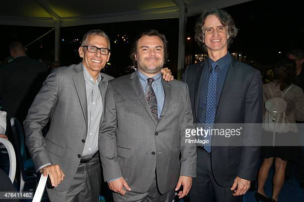 President of HBO Programming Mike Lombardo actor Jack Black and executive producer Jay Roach attend HBO's 'The Brink' Los Angeles Premiere at...