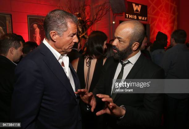President of HBO Richard Plepler and Jeffrey Wright attend the Premiere of HBO's Westworld Season 2 After Party on April 16 2018 in Los Angeles...