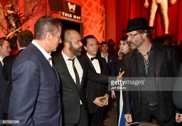 President of HBO Richard Plepler Jeffrey Wright and Jeffrey Nordling attend the Los Angeles Season 2 premiere of the HBO Drama Series WESTWORLD at...