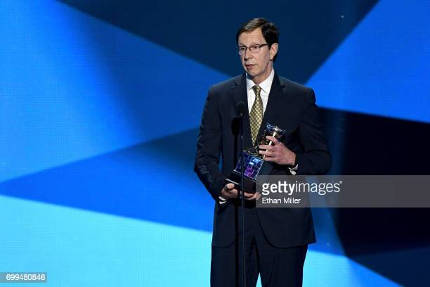 President of Hockey Operations and general manager David Poile of the Nashville Predators speaks after winning the NHL General Manager of the Year...