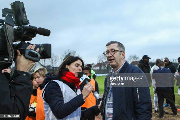 President of Houilles Football Club Xavier Blot during the french National Cup match between Houilles and Concarneau on January 6 2018 in Houilles...