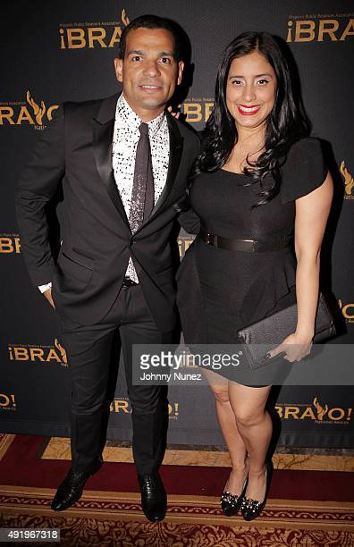 President of HPRA National Andy Checo and radio personality/host Laura Stylez attend the 2015 Bravo National Awards at The New York Palace Hotel on...
