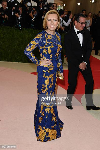 President of Hudson's Bay Liz Rodbell and husband Mitchell Rodbell attend the 'Manus x Machina: Fashion in an Age of Technology' Costume Institute...