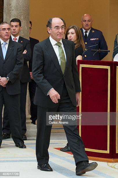President of Iberdrola energy group Ignacio Sanchez Galan attends the Spanish National Sports Awards 2013 at the El Pardo Palace on December 2 2013...