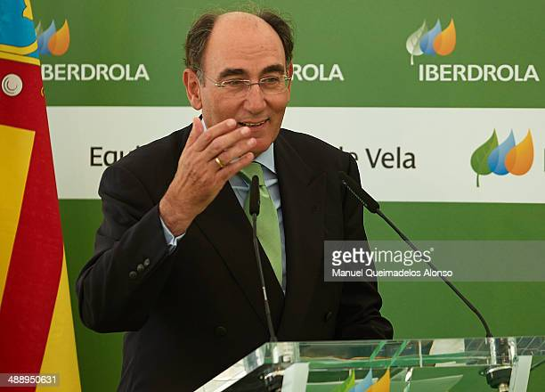 President of Iberdrola energy group Ignacio Sanchez Galan attends the Presentation of the Spanish Paralympic Sailing Team 2014 at headquarters of...