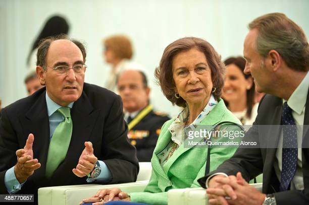 President of Iberdrola energy group Ignacio Sanchez Galan Queen Sofia of Spain and President of the regional government of generalitat Valencia...