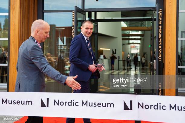 President of Iceland Gudni Th Johannesson at the ribbon cutting ceremony of the Nordic Museum on May 5 2018 in Seattle Washington