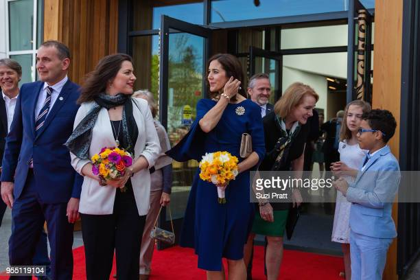 President of Iceland Gudni Th Johannesson Iceland First Lady Eliza Reid and Her Royal Highness the Crown Princess Mary of Denmark at the Nordic...