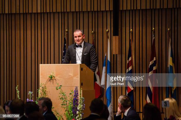 President of Iceland Gudni Th Johannesson speaks at the Nordic Museumon May 4 2018 in Seattle Washington