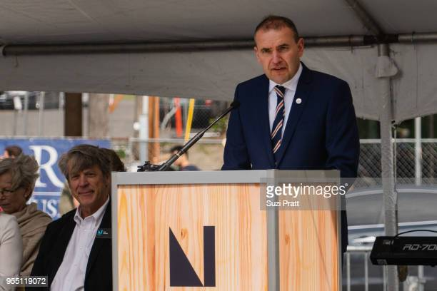 President of Iceland Gudni Th Johannesson speaks at the Nordic Museum on May 5 2018 in Seattle Washington