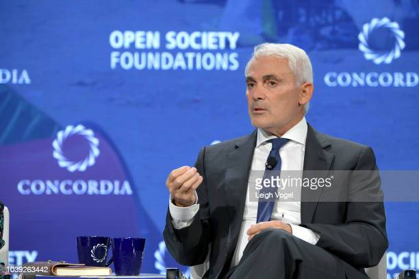 President of InterAmerican Development Bank Luis Alberto Moreno President and CEO of Overseas Private Investment Corporation Ray Washburne and...