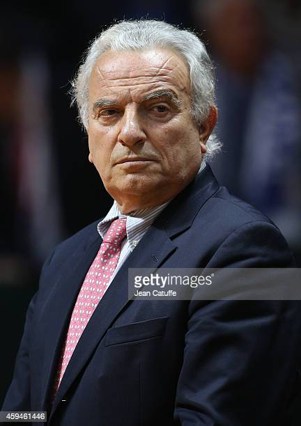 President of International Tennis Federation Francesco Ricci Bitti looks on during day three of the Davis Cup tennis final between France and...