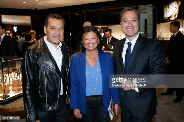 President of Interparfums Philippe Benacin Mayor of 8th District of Paris Jeanne D'hauteserre and CEO Montblanc International Nicolas Baretzki attend...