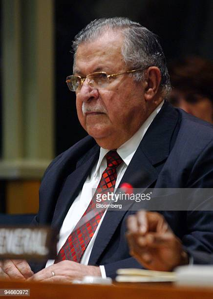 President of Iraq Jalal Talabani listens during a highlevel panel discussion on Iraq at the United Nations in New York September 18 2006