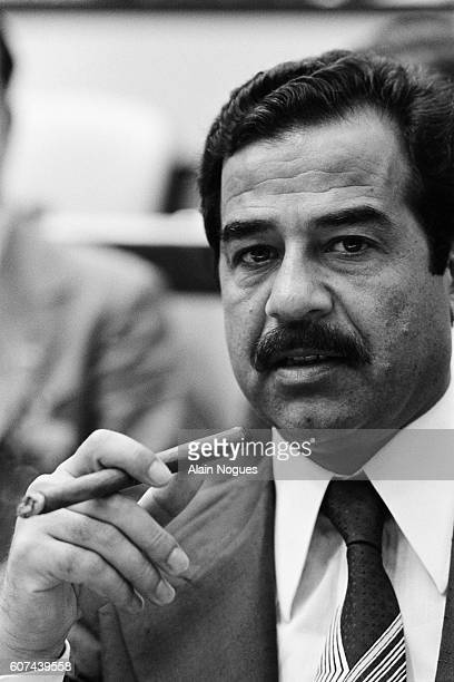 President of Iraq Saddam Hussein attends the 6th NonAligned Movement Summit in Havana