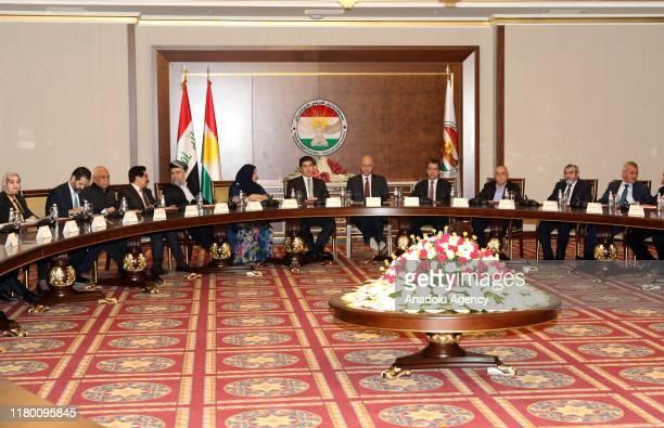 President of Iraqi Kurdish Regional Government Nechirvan Barzani President of Iraq Barham Salih Prime Minister of the Iraqi KRG Masrour Barzani...