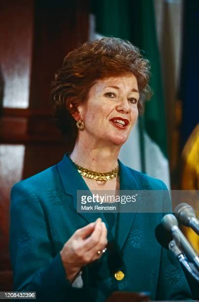 President of Ireland Mary Robinson speaking during the morning Newsmakers at the National Press Club Washington DC USA June 141996