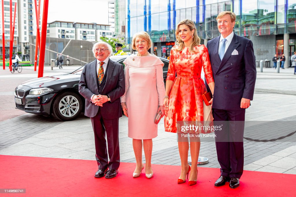 State Visit Of The King And Queen Of The Netherlands to Ireland Day Two : Nyhetsfoto