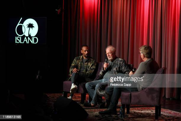 President of Island Records Darcus Beese and Founder of Island Records Chris Blackwell speak with GRAMMY Museum's Founding Executive Director Bob...