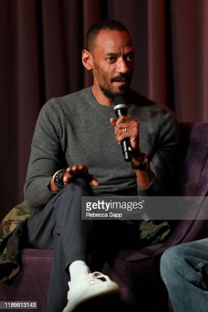 President of Island Records Darcus Beese speaks onstage at Island Records 60th Anniversary at the GRAMMY Museum on November 23, 2019 in Los Angeles,...