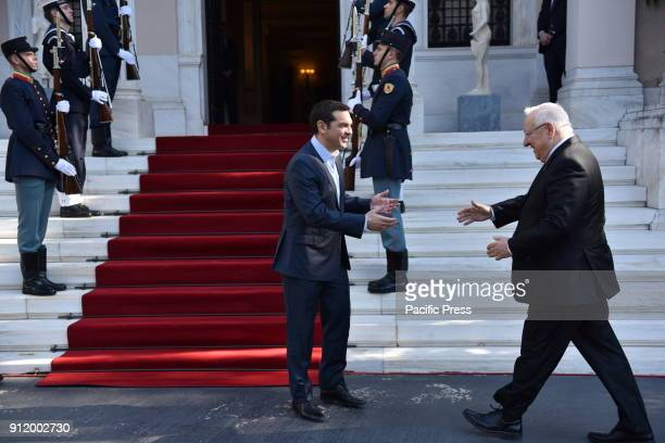 President of israel Reuven Rivlin and Greek Prime Minister Alexis Tsipras in Maximou Mansion