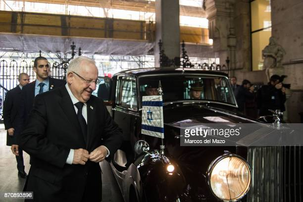 President of Israel Reuven Rivlin arrives at the City Council.